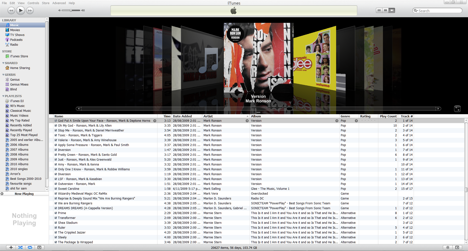 iTunes Interface